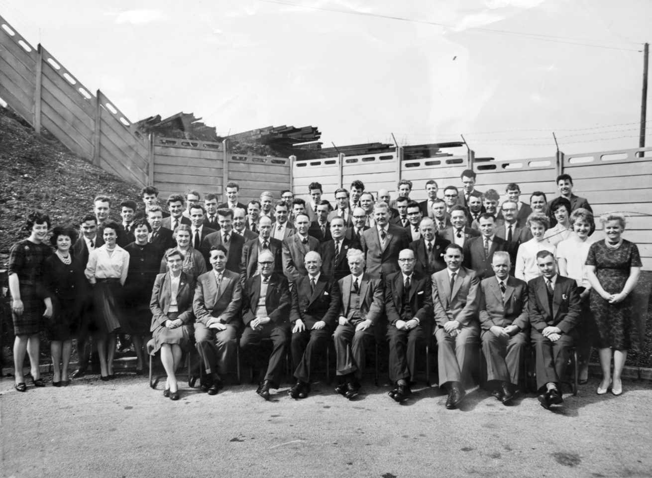 Staff at Edwin Danks Factory, 1963.